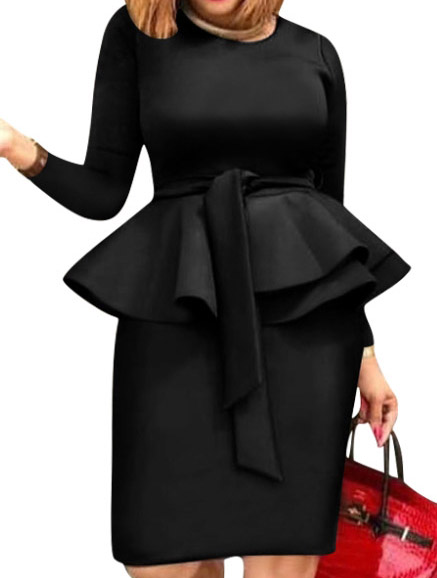 Rochie Eleganta Cu Maneci Visaya Neagra